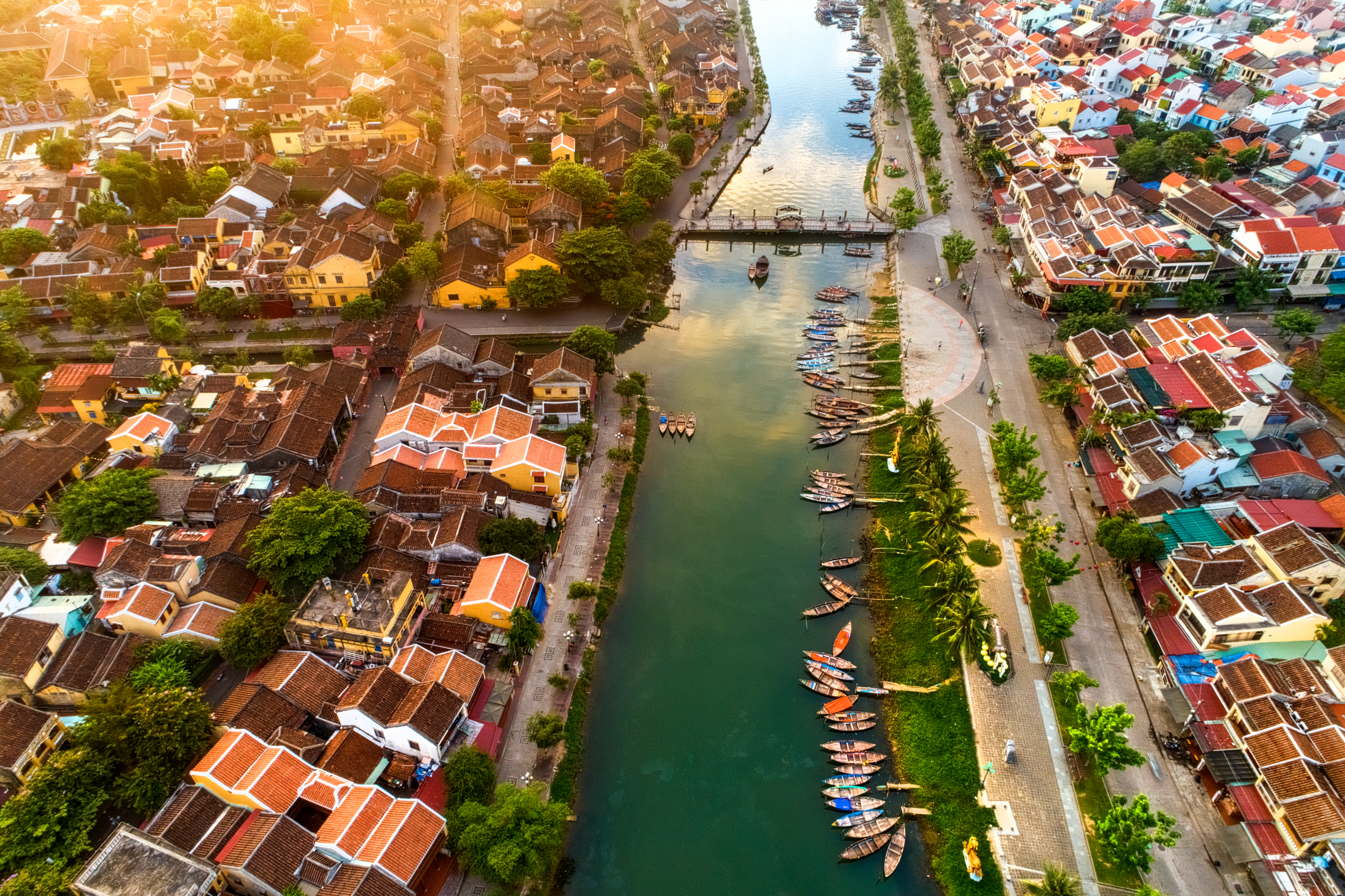 Aerial view of Hoi An town